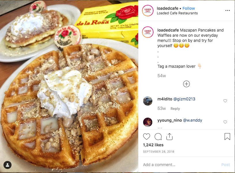 Social Instagram menu item